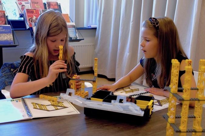 Bouwen met LEGO in bieb Weert onder leiding van professor Ankie