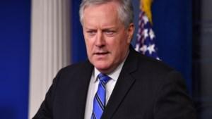 Stafchef Witte Huis: verkiezingen zijn gewoon op 3 november