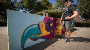 Eerste werk van graffitikunstenaar Roy Wagemans in zijn eigen Urmond
