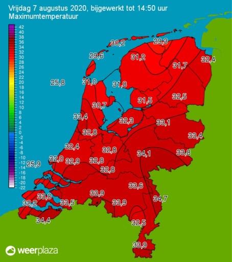 KNMI: code oranje in Limburg vanwege extreme hitte