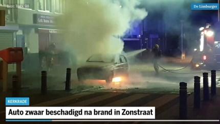 Video: Auto zwaar beschadigd na brand