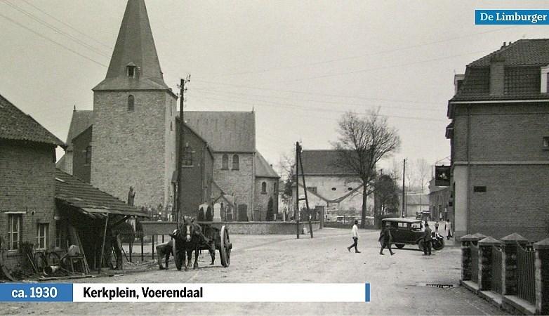 In de tot Kerkplein hernoemde Dorpstraat in Voerendaal was altijd iets te beleven