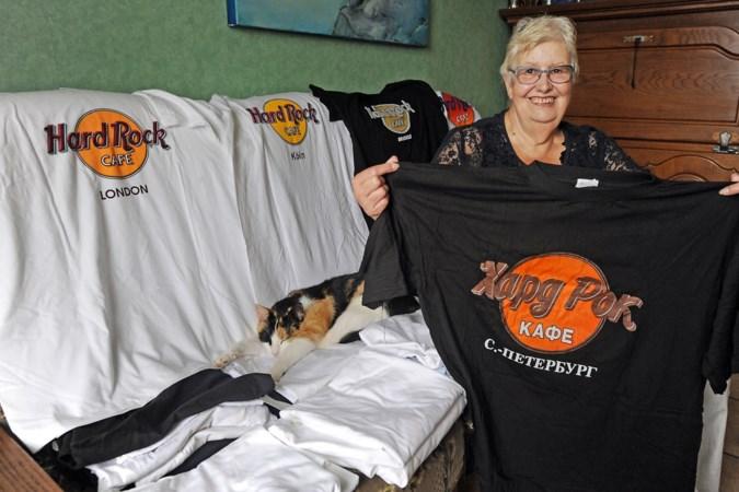 Mariette (71) heeft Hard Rock Café-shirts uit de hele wereld: 'Wij waren meestal met afstand de oudste gasten'