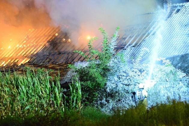 Politie stuurt tientallen kijkers weg bij fikse brand in Beegden