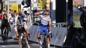 Alaphilippe sprint in Nice naar ritwinst en gele trui, Mollema zesde