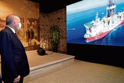 Spanningen in Middellandse Zee: Erdogan blijft zoeken naar gas