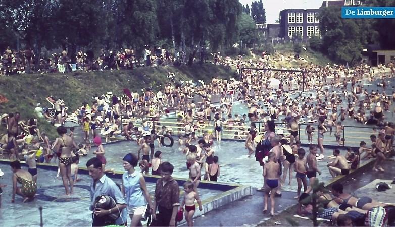 Gemengd zwemmen mocht het eerst in de Hitjesvijver in Heerlerheide