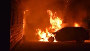 Vier auto's in brand in Wellerlooi