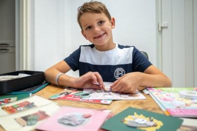 Xavi Smits uit Spaubeek maakt kaarten voor kankeronderzoek