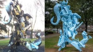 Door vandalen afgebrand kunstwerk in Heerlen is te zwaar beschadigd voor herstel ter plaatse