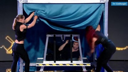 Roermondse illusionist met bloedstollende ontsnappingstruc in Holland's Got Talent