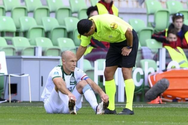 Eredivisie-rentree Robben loopt uit op een drama