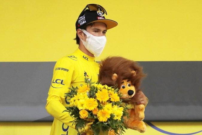 Primoz Roglic in het geel, we worden er niet heel warm van