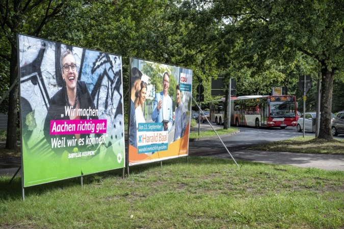 Aken kleurt groen na verkiezingen
