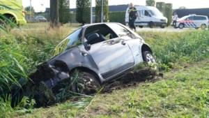 Automobilist wijkt uit voor bestelbus en belandt in de sloot