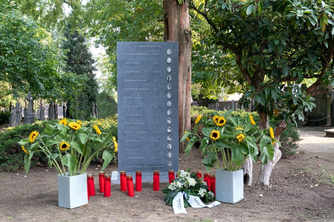 Monument voor gefusilleerde Roermondenaren onthuld op Oude K... - De Limburger