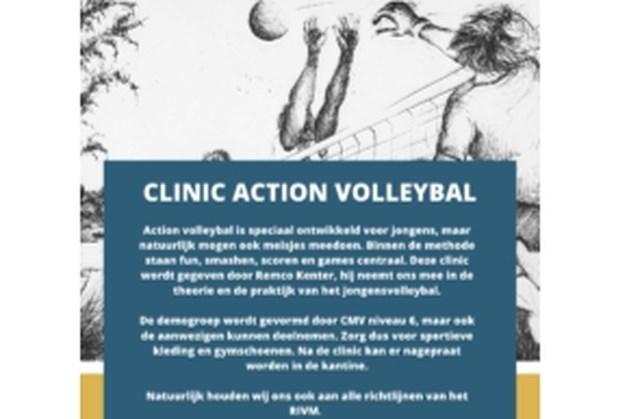 Clinic 'Action volleybal' in De Körref in Meijel