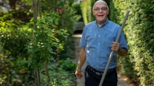 Will Lardenoije neemt afscheid als voorzitter van hospice Trajectum in Maastricht, maar blijft wel de tuin onderhouden