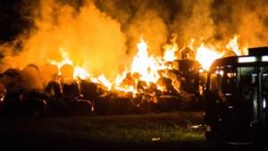 Brand in strobalen over de grens zorgt voor overlast in Limburg