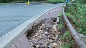 Randweg Vaals deels afgesloten vanwege weggespoeld wegdek