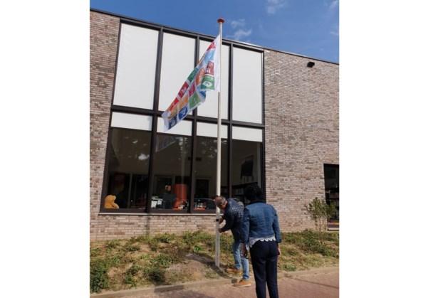 Bibliotheek Schinveld hijst de vlag voor Global Goals