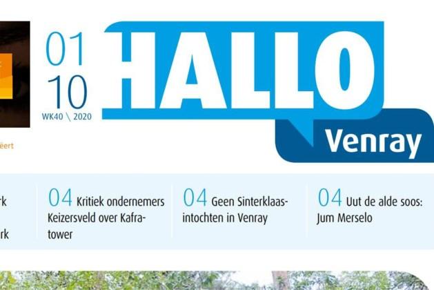 Blad Hallo Venray verschijnt nog maar een keer in de twee weken
