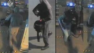 Politie deelt beelden van inbraak met hamer op tankstation Sevenum
