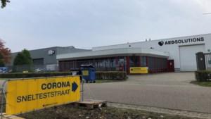 Commerciële snelteststraat corona voor personeel in Weert