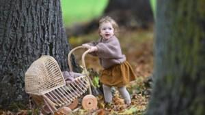 Peuter Mila (2) zorgt voor aandoenlijk herfsttafereel in stadspark Sittard