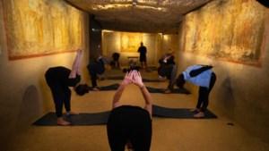 De koele Romeinse Katakomben in Valkenburg zijn deze week het decor van wellness