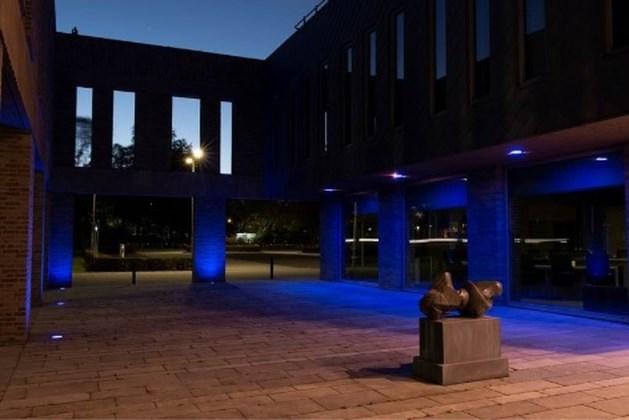 Verjaardag VN: gemeentehuis Stein kleurt blauw