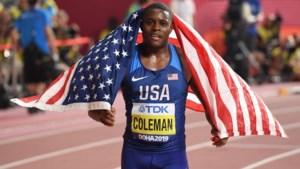 Wereldkampioen 100 meter Coleman mist Spelen door dopingschorsing