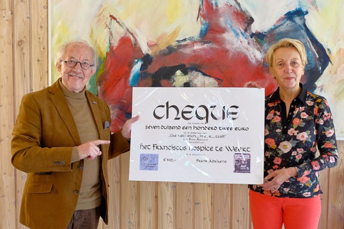 Weertenaar Frans Adriaens schenkt opbrengst boek 'Gae hetj mich in eur tes' aan Franciscus Hospice