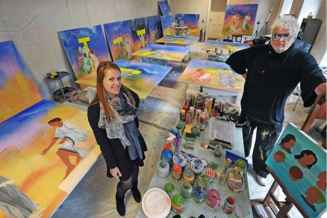Venlose kunstenaar Dick Evers schildert eigen interpretatie van kruisweg