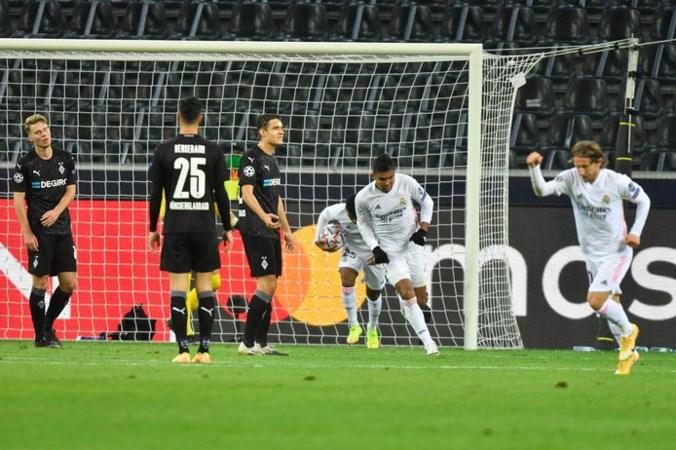 Real Madrid voorkomt in blessuretijd nederlaag bij Borussia Mönchengladbach