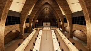 Nieuwe en tijdelijke vergaderzaal gemeenteraad in Heerlense Bernardinuskapel officieel geopend als raadzaal