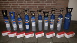 Man (22) in Heijen aangehouden met 20 kilo lachgas