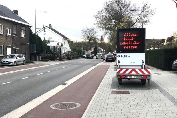 Waarschuwingsborden moeten voorkomen dat Nederlanders en Belgen de grens oversteken