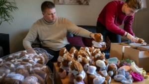 Idee studenten: knuffelbeer op gebreide sokken verdrijft eenzaamheid