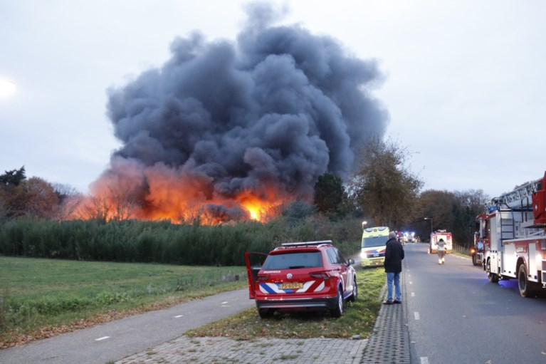 Video: Lege pluimveestallen tot de grond toe afgebrand in Well