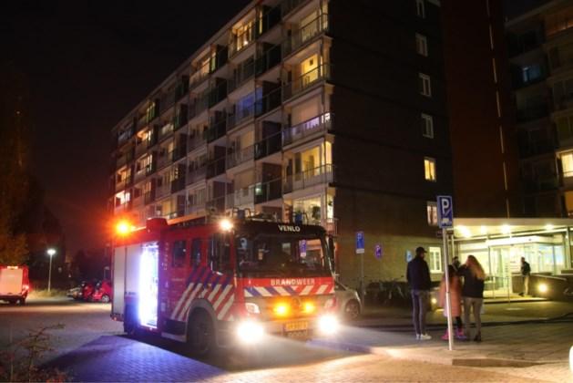 Brand in appartement van flatgebouw
