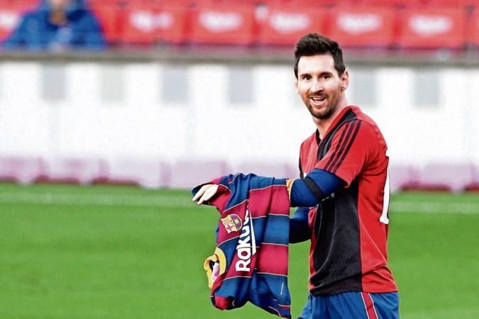 Messi eert Maradona in shirt van Newell's Old Boys