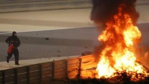 Grosjean overleeft horrorcrash in Bahrein; Verstappen tweede