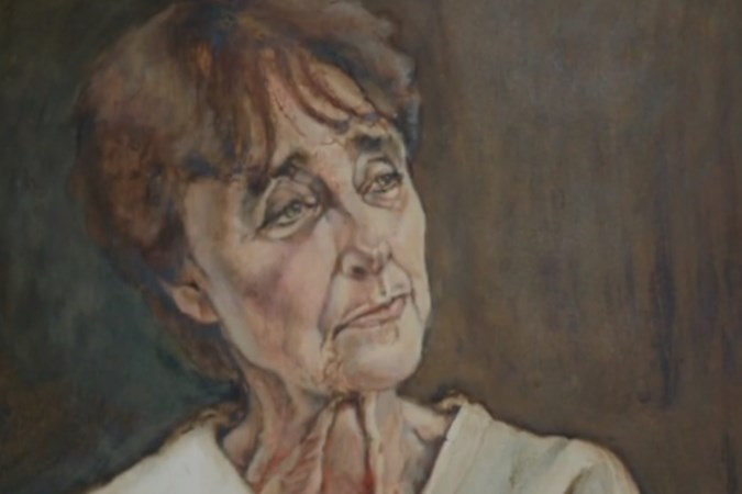 Clairy Polak valt in populair tv-programma voor portret van zichzelf gemaakt door Geleense kunstenares
