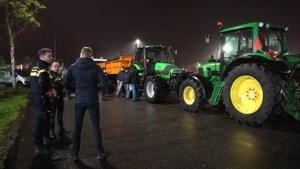 Boeren blokkeren distributiecentrum Lidl in Weert