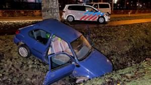 Na diefstal in Venlo met auto tegen boom in Roermond