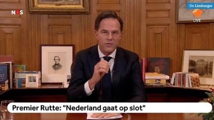 Rutte noemt lockdown 'onvermijdelijk' en haalt tijdens speech uit naar activisten