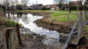 Water in Maasnielderbeek Roermond laag door droogte en hitte in de zomer