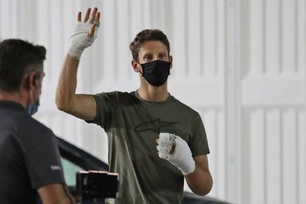 Formule 1-coureur Grosjean twee weken na crash geopereerd aan beide handen