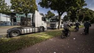 Tijdelijke toiletten voor vrachtwagenchauffeurs in Geleen